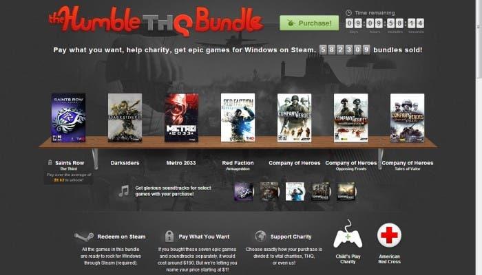 Juegos de THQ en Humble Bundle