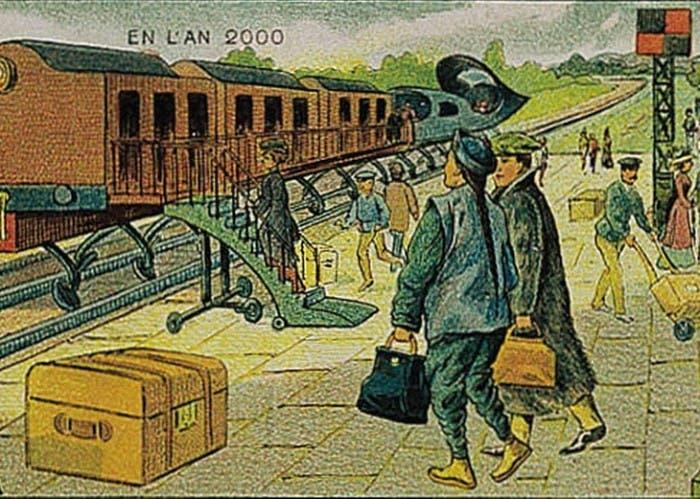 Así imaginaban en 1900 que serían los trenes eléctricos en el año 2000