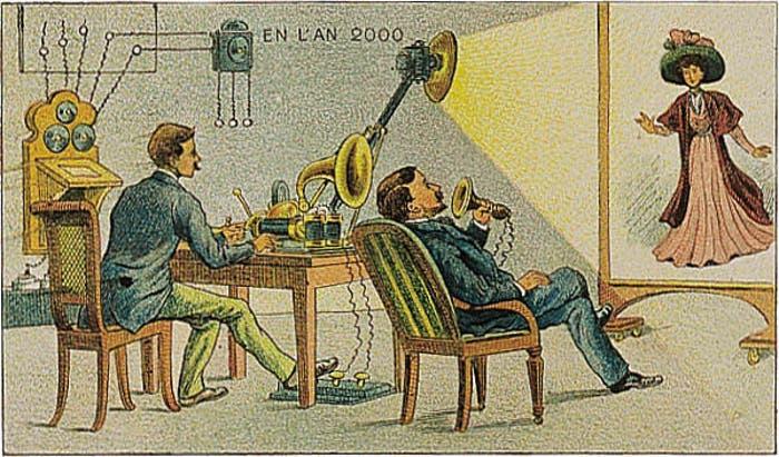 Así creían en 1900 que serían las videollamadas en el año 2000