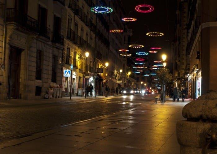 Calle Mayor en Navidad