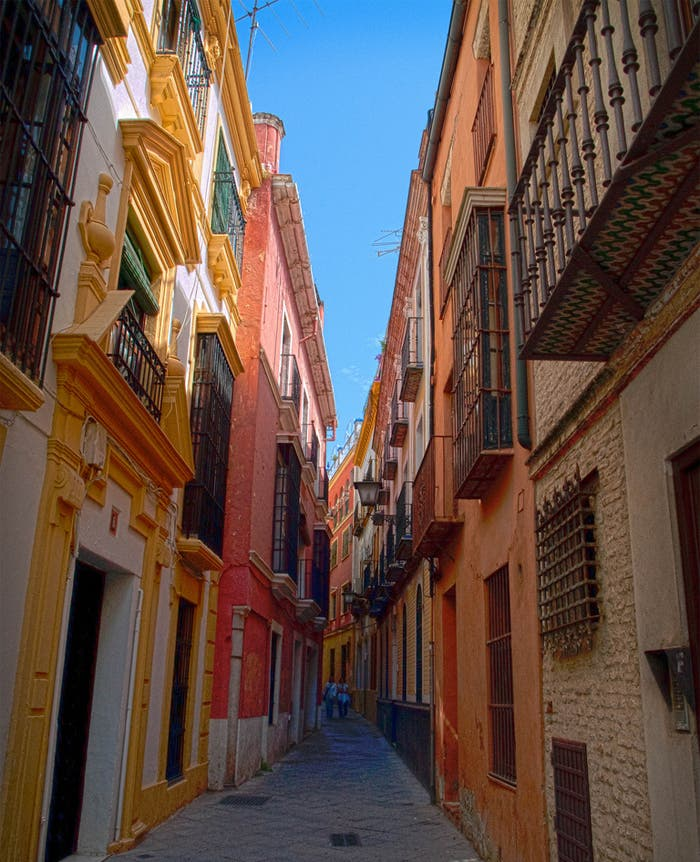 Imagen en HDR de las calles de Sevilla