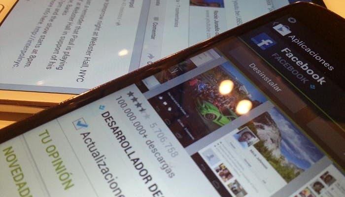 Imagen de la nueva versión de Facebook para Android