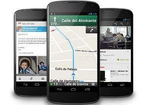 Fotografía de tres smartphones Google Nexus 4