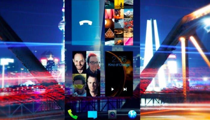 Captura de pantalla del sistema operativo móvil Sailfish de Jolla