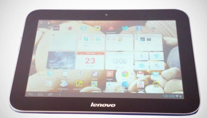 Imagen frontal del tablet