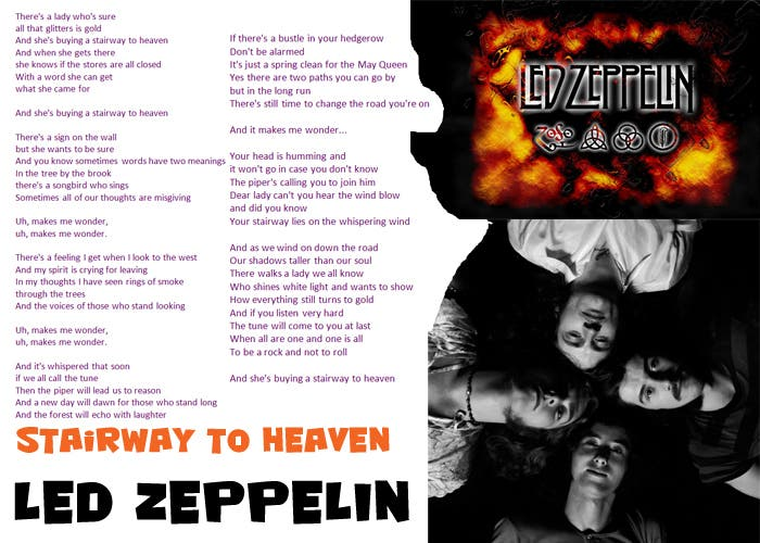 led zeppelin stairway to heaven letra