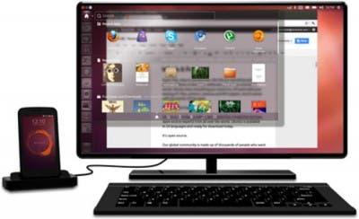 El móvil conectado a una pantalla se puede usar como ordenador