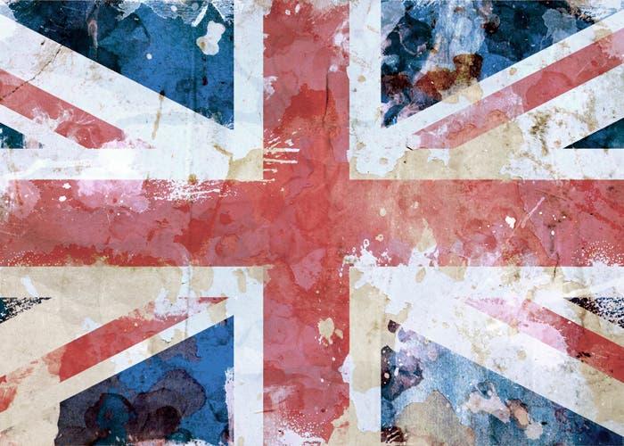 Bandera Reino Unido desgastada