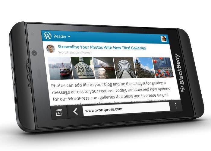 Imagen del terminal BlackBerry Z10