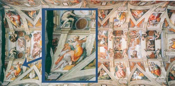 Detalle techo capilla Sixtina