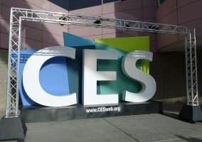 Logo CES en edificio central de Las Vegas
