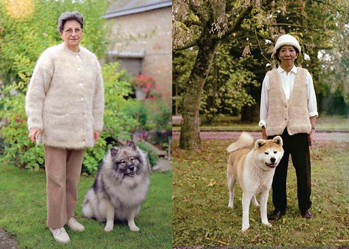 dueño de perro junto a su mascota
