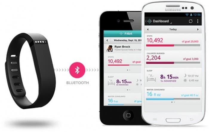 FitBit Flex se puede sincronizar con smartphones iOS o Android