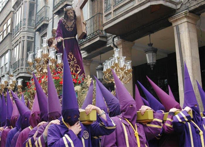 Cristo Nazareno durante en procesión