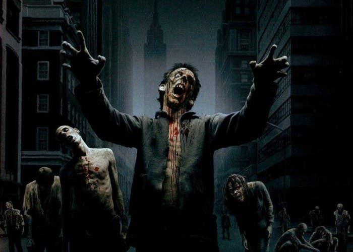 Ilustración de un grupo de zombies en Nueva York