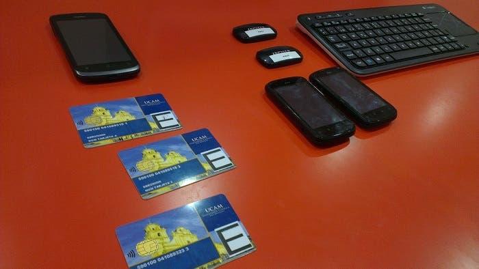 Control con dispositivos NFC UCAM