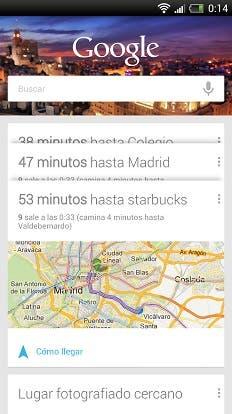 Google Now Busqueda Reciente