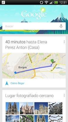 Google Now Casa de un Amigo