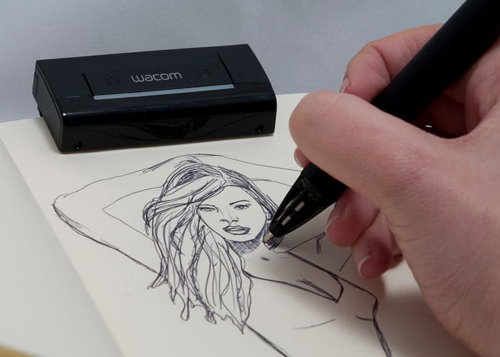 Dibujando con el lápiz digital Inkling