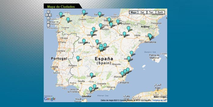 Mapa de las Smart City España