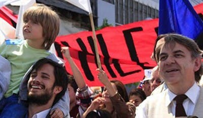 Manifestación niño Gael