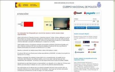 """Captura del virus de la policía con la webcam """"grabando"""""""