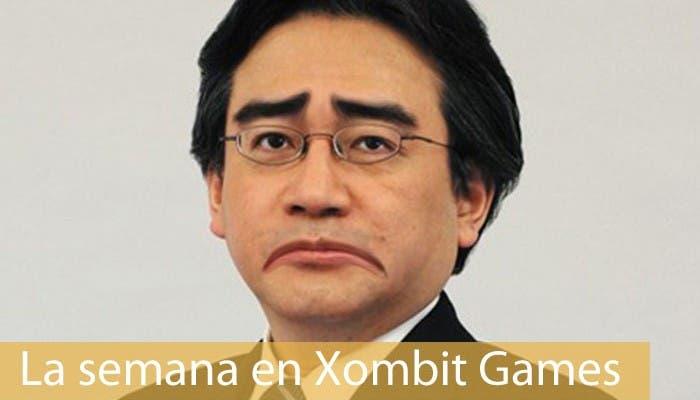 Montaje mostrando a Satoru Iwata triste