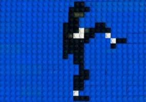 Captura de la animación de Michael Jackson realizada en LEGO