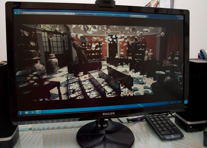 Monitor Philips MHL, película HD