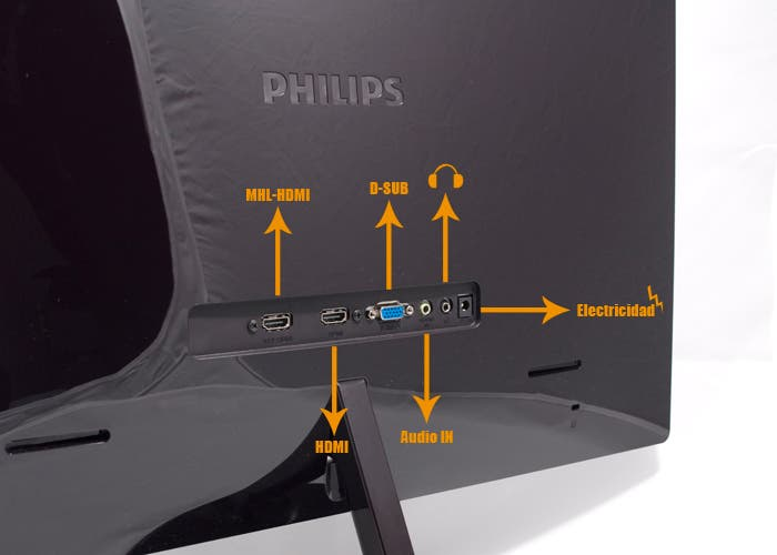 Monitor Philips MHL, Conectores