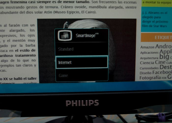 Monitor Philips MHL menu