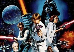 Cartel promocional de Star Wars