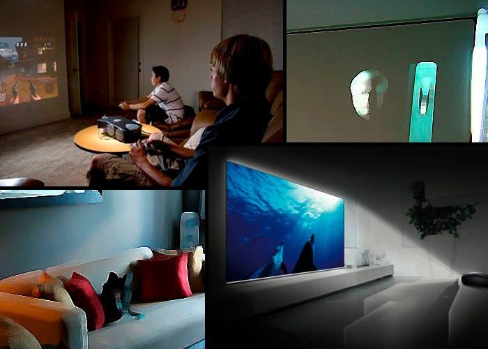 Los usos de un proyector en casa