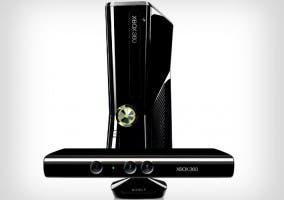 Imagen de una consola Xbox 360 y su accesorio Kinect