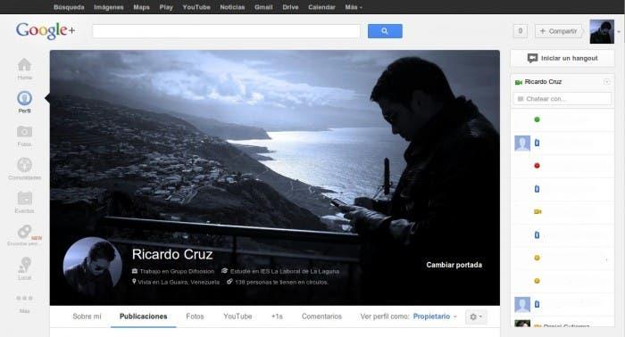 Nueva portada Google+