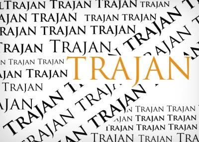 Varios tamaños y grosores de la tipografía Trajan
