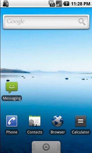 Captura de Android 1.6