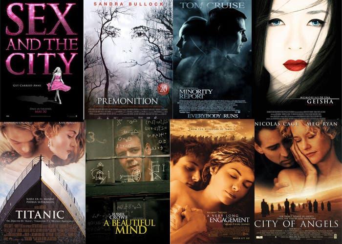 Varios carteles de películas que usan la Tajan
