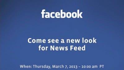 Invitación presentación nuevo look de News Feed