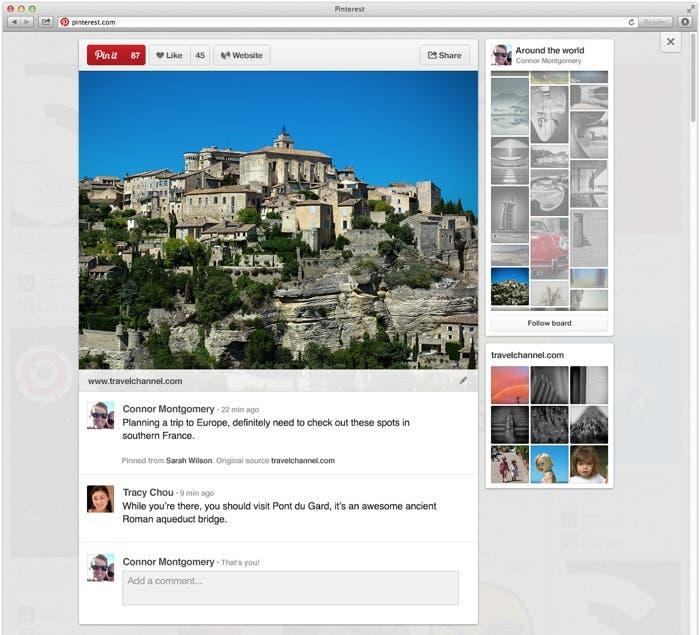Diseño de los posts en Pinterest