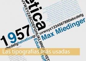 Caratura las tipografías más utilizadas