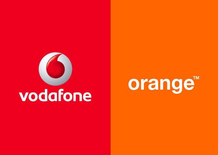Logos de Vodafone y Orange