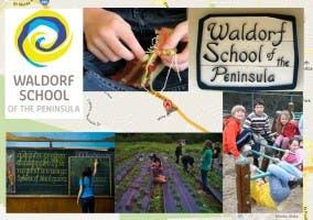Variias imágenes de actividades en el Waldof school