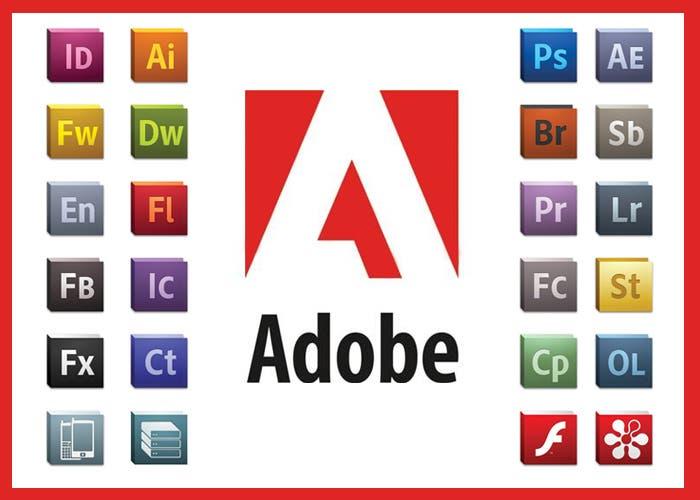 Logotipos Adobe usando tipografía Myriad