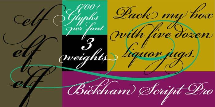 Variaciones de Bickham Script