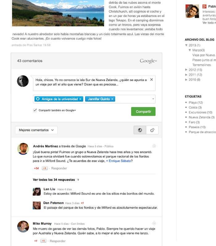 Nueva distribución de comentarios en Blogger