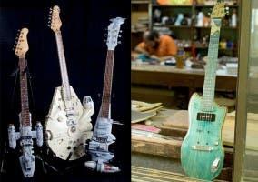 Varios diseños de guitarras originales