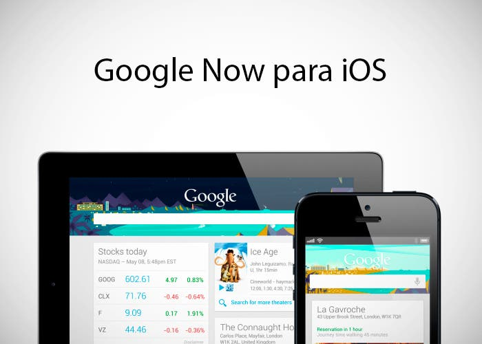 Capturas de Google Now para iOS
