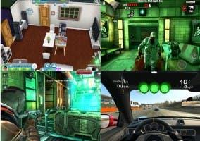 Captura de los cuatro mejores juegos en Android gratuitos