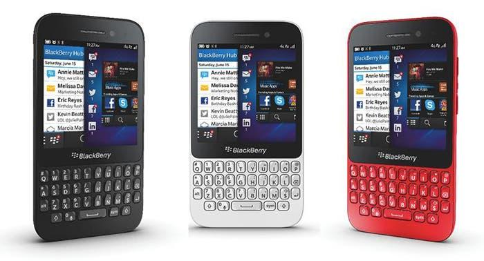 Colores disponibles del BlackBerry Q5